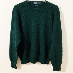 Polo by Ralph Lauren 100% Wool Cable Knit Sweater